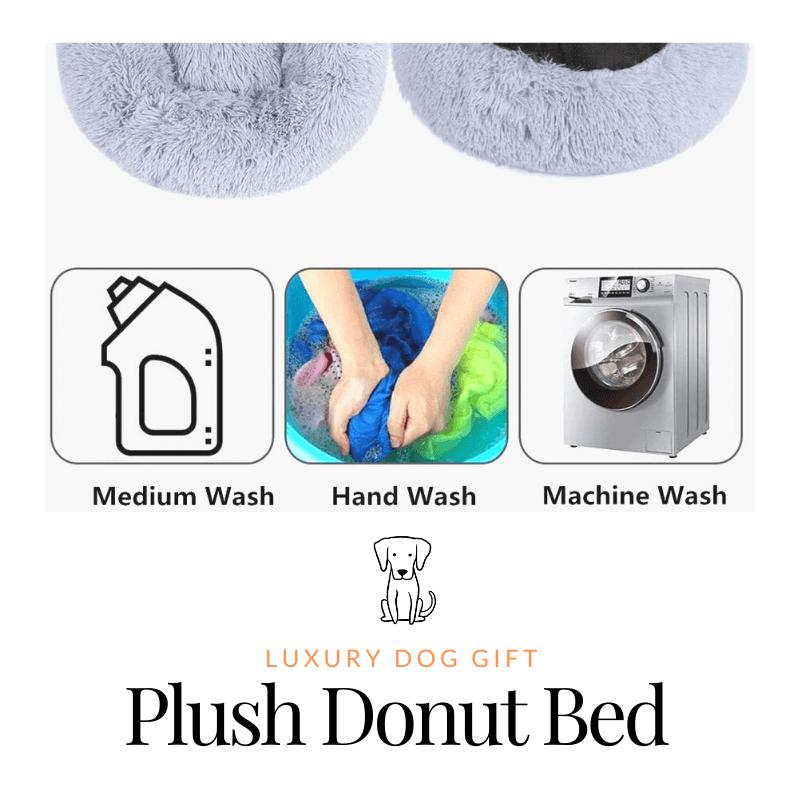 Plush Donut dog Bed