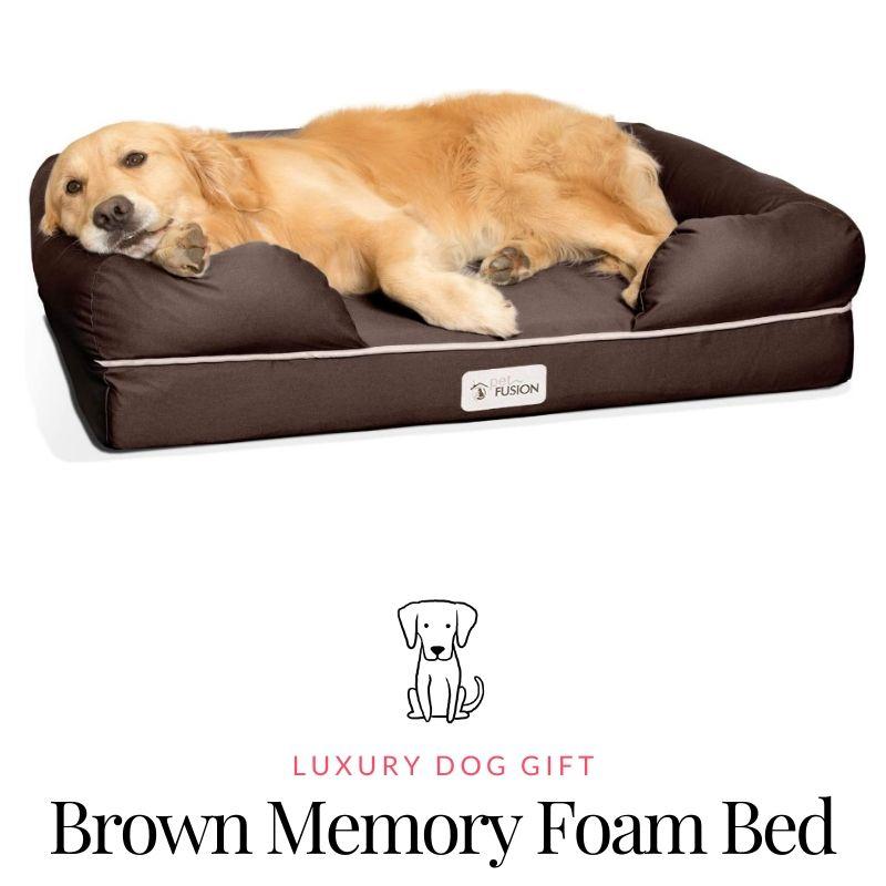 Brown memory foam bed